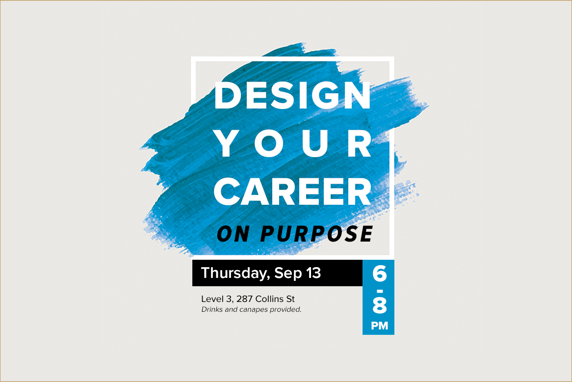 EVENT: Design Your Career On Purpose
